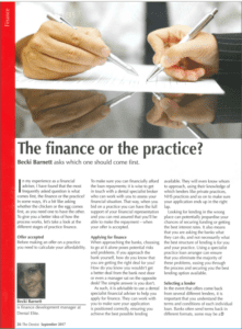 Dental Practice Finance Article